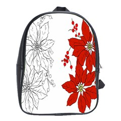 Poinsettia Flower Coloring Page School Bags (XL)