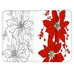 Poinsettia Flower Coloring Page Samsung Galaxy Tab 7  P1000 Flip Case