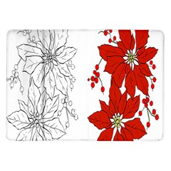 Poinsettia Flower Coloring Page Samsung Galaxy Tab 10.1  P7500 Flip Case