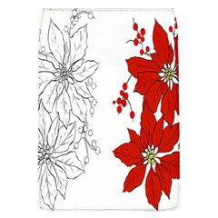 Poinsettia Flower Coloring Page Flap Covers (L)