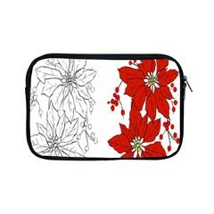 Poinsettia Flower Coloring Page Apple Ipad Mini Zipper Cases