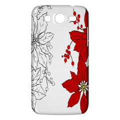 Poinsettia Flower Coloring Page Samsung Galaxy Mega 5.8 I9152 Hardshell Case