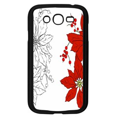 Poinsettia Flower Coloring Page Samsung Galaxy Grand DUOS I9082 Case (Black)