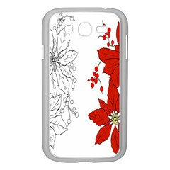Poinsettia Flower Coloring Page Samsung Galaxy Grand Duos I9082 Case (white)