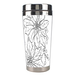 Poinsettia Flower Coloring Page Stainless Steel Travel Tumblers