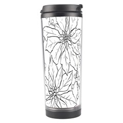 Poinsettia Flower Coloring Page Travel Tumbler