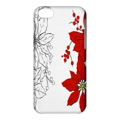 Poinsettia Flower Coloring Page Apple iPhone 5C Hardshell Case