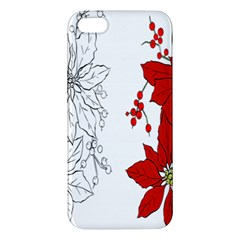 Poinsettia Flower Coloring Page iPhone 5S/ SE Premium Hardshell Case