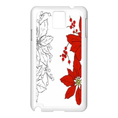 Poinsettia Flower Coloring Page Samsung Galaxy Note 3 N9005 Case (White)