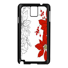 Poinsettia Flower Coloring Page Samsung Galaxy Note 3 N9005 Case (Black)