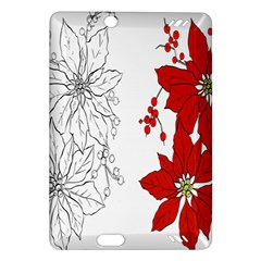 Poinsettia Flower Coloring Page Amazon Kindle Fire Hd (2013) Hardshell Case