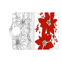 Poinsettia Flower Coloring Page Kindle Fire HD (2013) Flip 360 Case