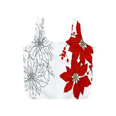 Poinsettia Flower Coloring Page Full Print Recycle Bags (S)