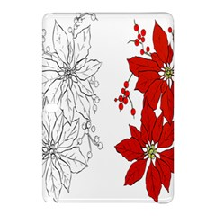Poinsettia Flower Coloring Page Samsung Galaxy Tab Pro 10 1 Hardshell Case