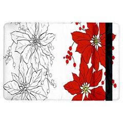 Poinsettia Flower Coloring Page iPad Air Flip