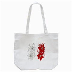 Poinsettia Flower Coloring Page Tote Bag (White)