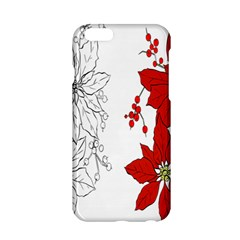 Poinsettia Flower Coloring Page Apple iPhone 6/6S Hardshell Case