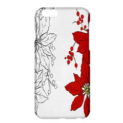 Poinsettia Flower Coloring Page Apple Iphone 6 Plus/6s Plus Hardshell Case