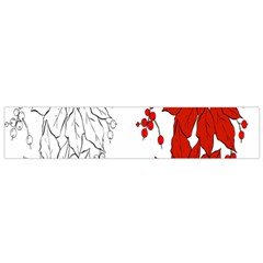 Poinsettia Flower Coloring Page Flano Scarf (Small)