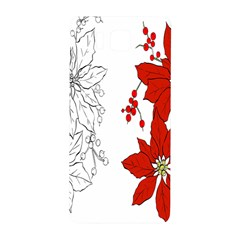 Poinsettia Flower Coloring Page Samsung Galaxy Alpha Hardshell Back Case