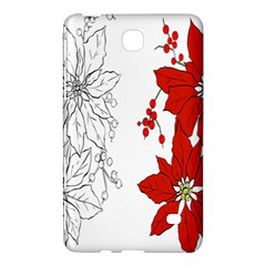 Poinsettia Flower Coloring Page Samsung Galaxy Tab 4 (8 ) Hardshell Case