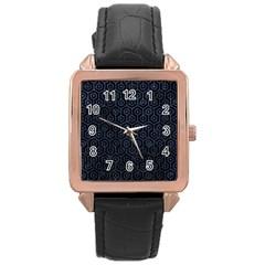 HXG1 BK-MRBL BL-STONE Rose Gold Leather Watch