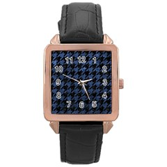 HTH1 BK-MRBL BL-STONE Rose Gold Leather Watch