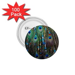 Peacock Jewelery 1 75  Buttons (100 Pack)