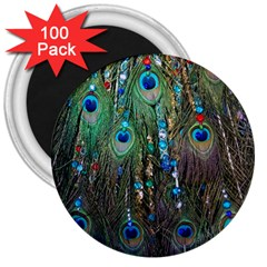 Peacock Jewelery 3  Magnets (100 pack)