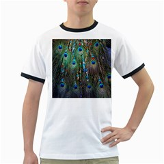 Peacock Jewelery Ringer T-Shirts
