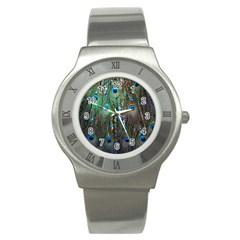 Peacock Jewelery Stainless Steel Watch