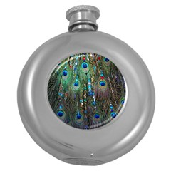 Peacock Jewelery Round Hip Flask (5 oz)