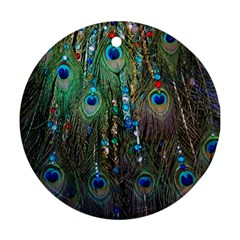 Peacock Jewelery Round Ornament (two Sides)