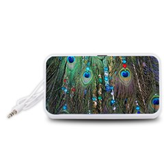 Peacock Jewelery Portable Speaker (White)