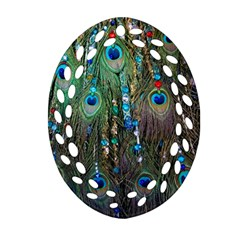 Peacock Jewelery Oval Filigree Ornament (Two Sides)