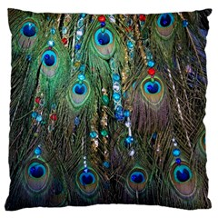 Peacock Jewelery Large Cushion Case (Two Sides)