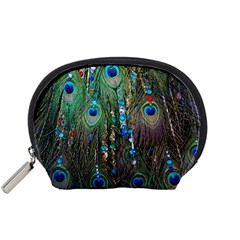 Peacock Jewelery Accessory Pouches (Small)