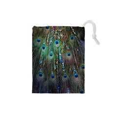 Peacock Jewelery Drawstring Pouches (Small)