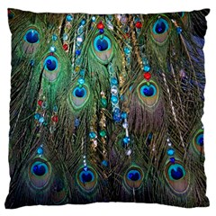 Peacock Jewelery Standard Flano Cushion Case (two Sides)
