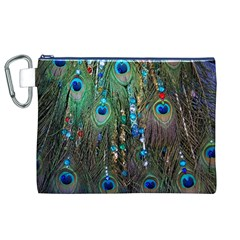 Peacock Jewelery Canvas Cosmetic Bag (xl)