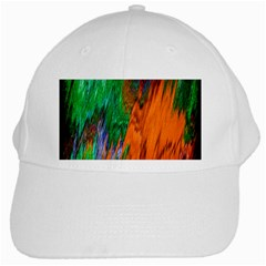 Watercolor Grunge Background White Cap