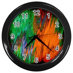 Watercolor Grunge Background Wall Clocks (Black)