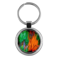 Watercolor Grunge Background Key Chains (Round)