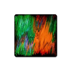 Watercolor Grunge Background Square Magnet
