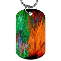 Watercolor Grunge Background Dog Tag (two Sides)