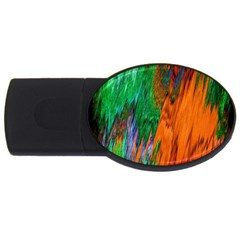 Watercolor Grunge Background USB Flash Drive Oval (1 GB)