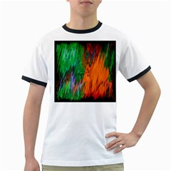 Watercolor Grunge Background Ringer T-Shirts