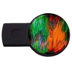 Watercolor Grunge Background Usb Flash Drive Round (4 Gb)