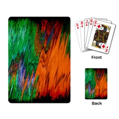 Watercolor Grunge Background Playing Card