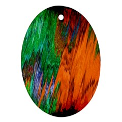 Watercolor Grunge Background Oval Ornament (Two Sides)